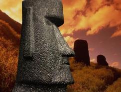3DMAX再现复活岛神秘巨型�y角��眼泛精光石像