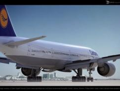 Cantarel飛機三維渲染作品