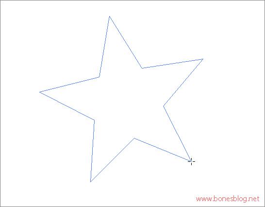 cs3绘制小星星
