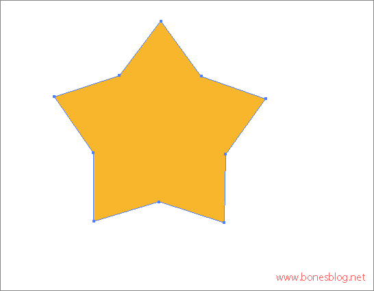 adobe illustratro cs3绘制小星星