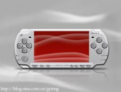 PS鼠绘逼真的索尼PSP