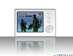 Photoshop打造MP4播放器