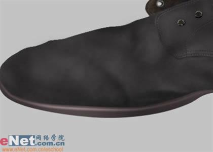photoshop鼠绘一只旧皮鞋