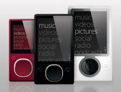 微软发布第二代Zune数字音乐播放器