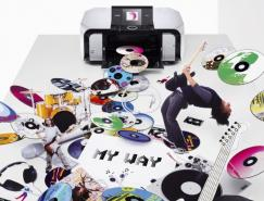 Canon打印機平面廣告設計
