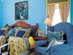 藍色系風格臥室欣賞