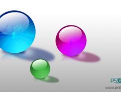 Photoshop打造晶莹通透水晶球