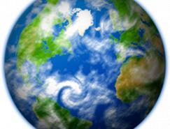 透明png:地球電腦圖標