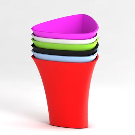 色彩丰富的垃圾桶设计