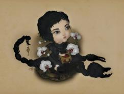 Akina可爱女孩插画欣赏