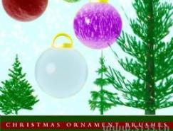圣诞节装饰品Photoshop笔刷