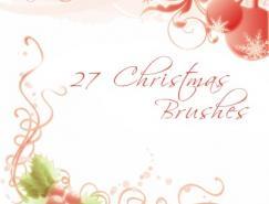 27个典雅的圣诞节Photoshop笔刷