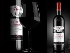 Portela精美葡萄酒包装设计