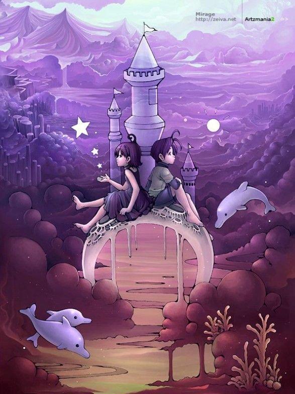 国外童话题材插画作品欣赏