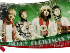 photoshop制作圣诞签名