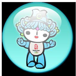 08北京奥运会福娃水晶图标png 设计之家