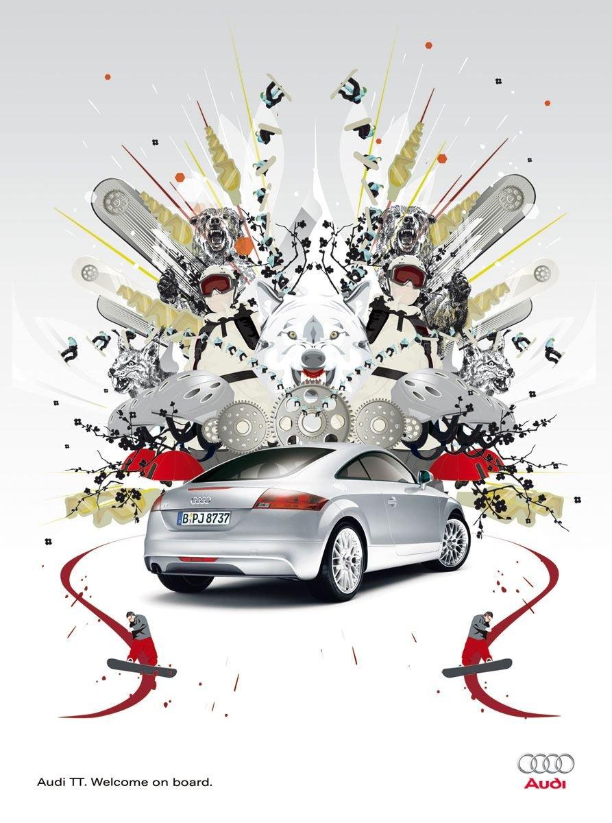 AudiTT广告设计欣赏