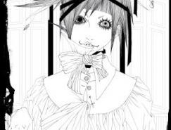 日本插画师的黑白插画欣赏