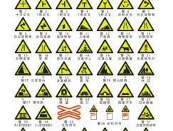 道路交通标志之警告标志矢量图(CDR格式)