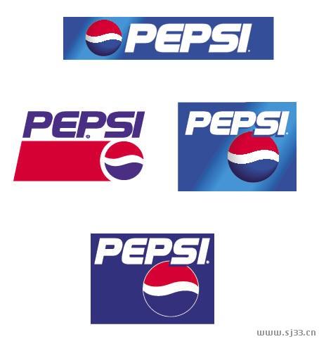 百事可乐pepsi标志矢量图