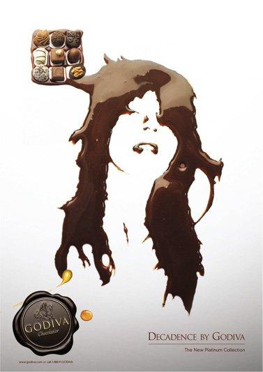 godiva巧克力广告设计图片