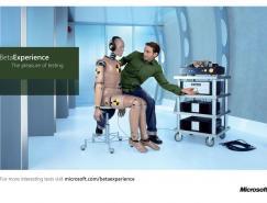 微軟BetaExperience體驗計劃平面廣告設