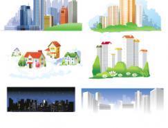 城市高楼大厦矢量素材(二)