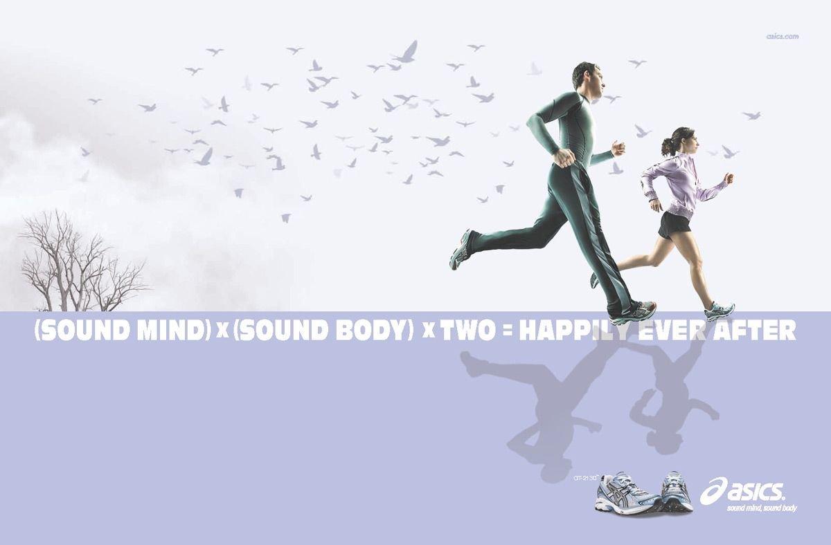 asics鞋平面广告欣赏