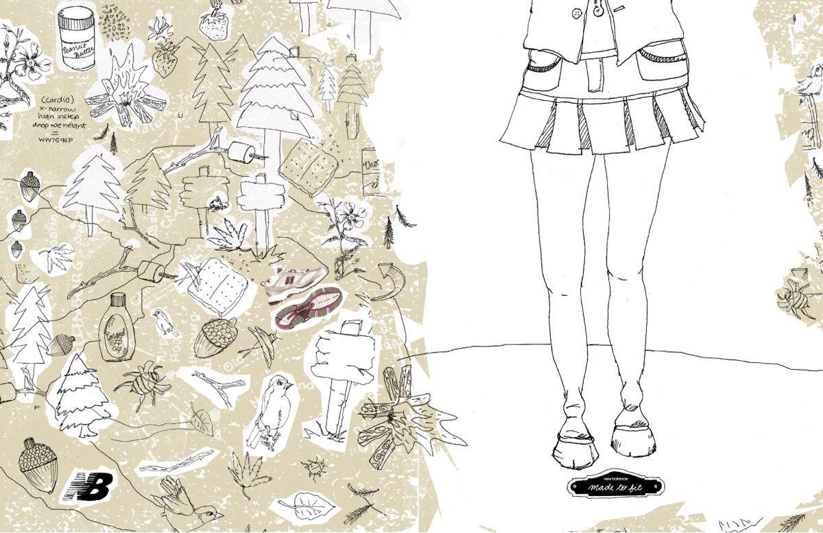 NewBalance运动鞋平面广告欣赏