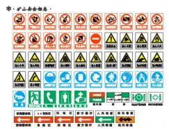 矿山安全标志矢量图