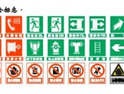 消防安全标志矢量图