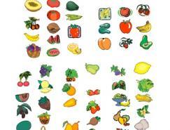 各种水果蔬菜矢量图