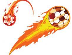 火焰足球矢量素材