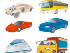 多种交通工具矢量素材