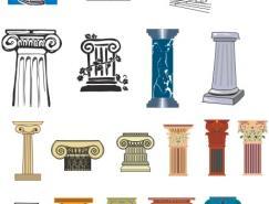 罗马柱矢量图素材