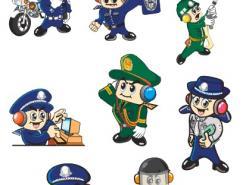 警察卡通形象矢量素材