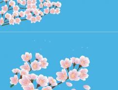 桃花矢量图素材