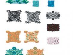 中国传统花纹花边底纹矢量素材(2)