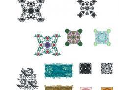 中国传统花纹花边底纹矢量素材(3)