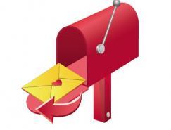 邮箱邮筒矢量素材
