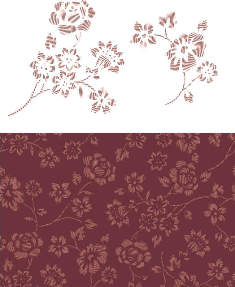 花纹背景矢量素材(2)