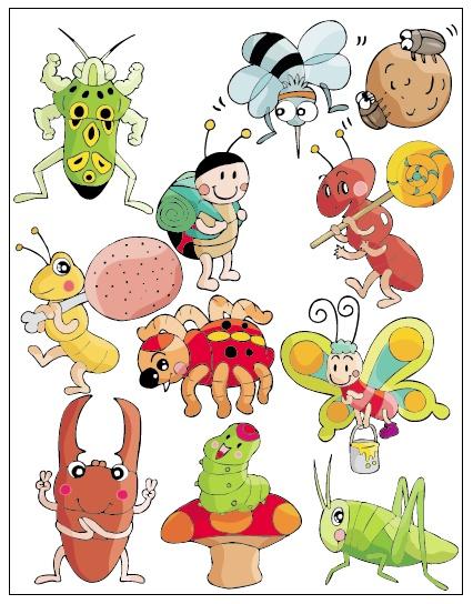 卡通动物系列矢量素材(6);;图片