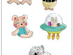 可愛卡通熊矢量素材
