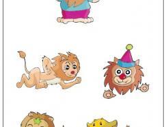 卡通獅子矢量素材