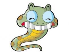 卡通蛇矢量素材