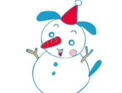 可愛卡通雪人矢量素材