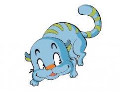 卡通小貓矢量素材