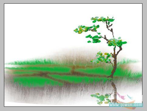 ps鼠绘水彩画效果教程(2)