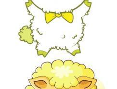卡通绵羊矢量素材