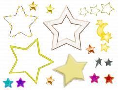 多款星形素材透明PNG图标